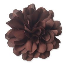 9cm Silky Bloom CHOCOLATE BROWN Fabric Flower Applique